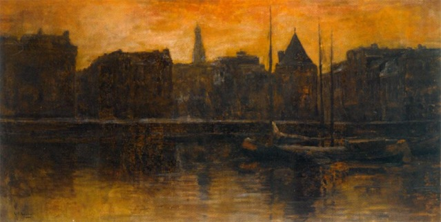 a_view_of_the_prins_hendrikkade_with_the_schreierstoren,_amsterdam-large